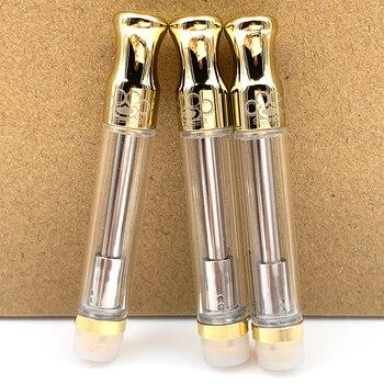 BK Wick Coil Vape Cartridge E Cigarette Gold Pyrex Glass CBD Thick Atomizer Vape Tank for 510 Thread Battery Mod Kit