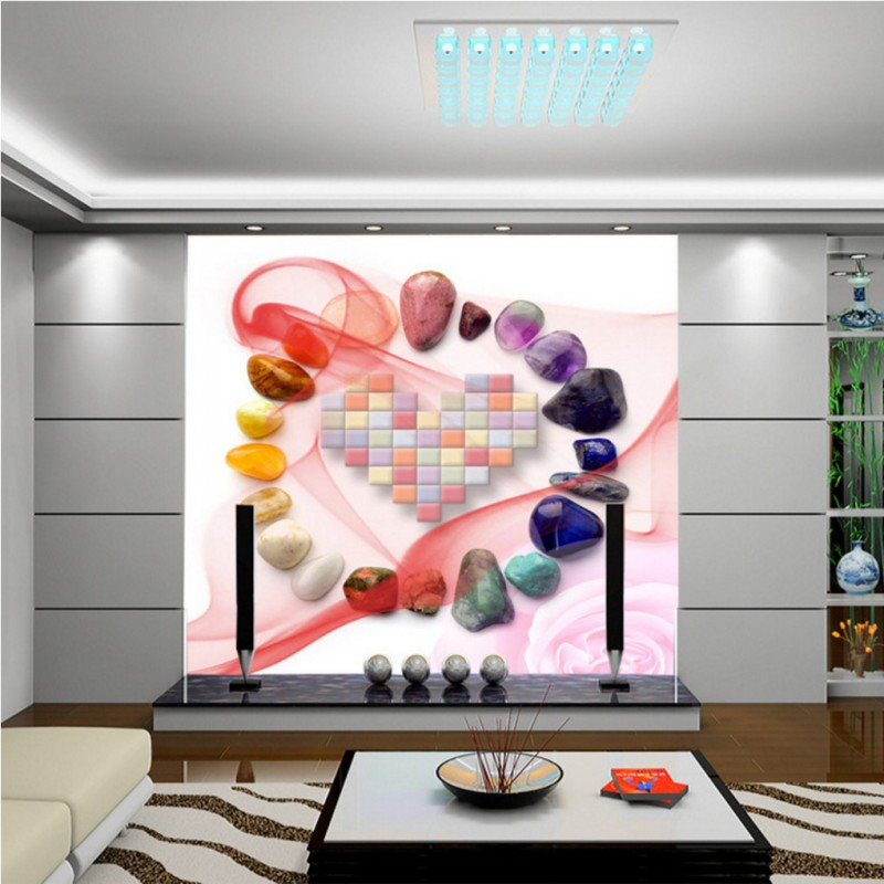 Drop Shipping Custom Photo Wallpaper 3D Stereo Color Stone Roses Heart Background Wall Living Room Hotel Bedroom Wallpaper Mural