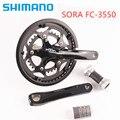 Shimano Sora 3550 165 мм 170 мм 50-34 Т 2x9 Скорость с 3500 BSA Нижний Кронштейн в комплекте с BB