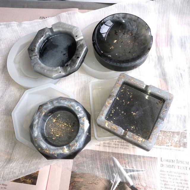 DDARK DIY Hamsa Hand Tray Resin Mold Palm Amulet Jewelry Plate Dish Epoxy Resin Mold Kit Handmade Art Craft
