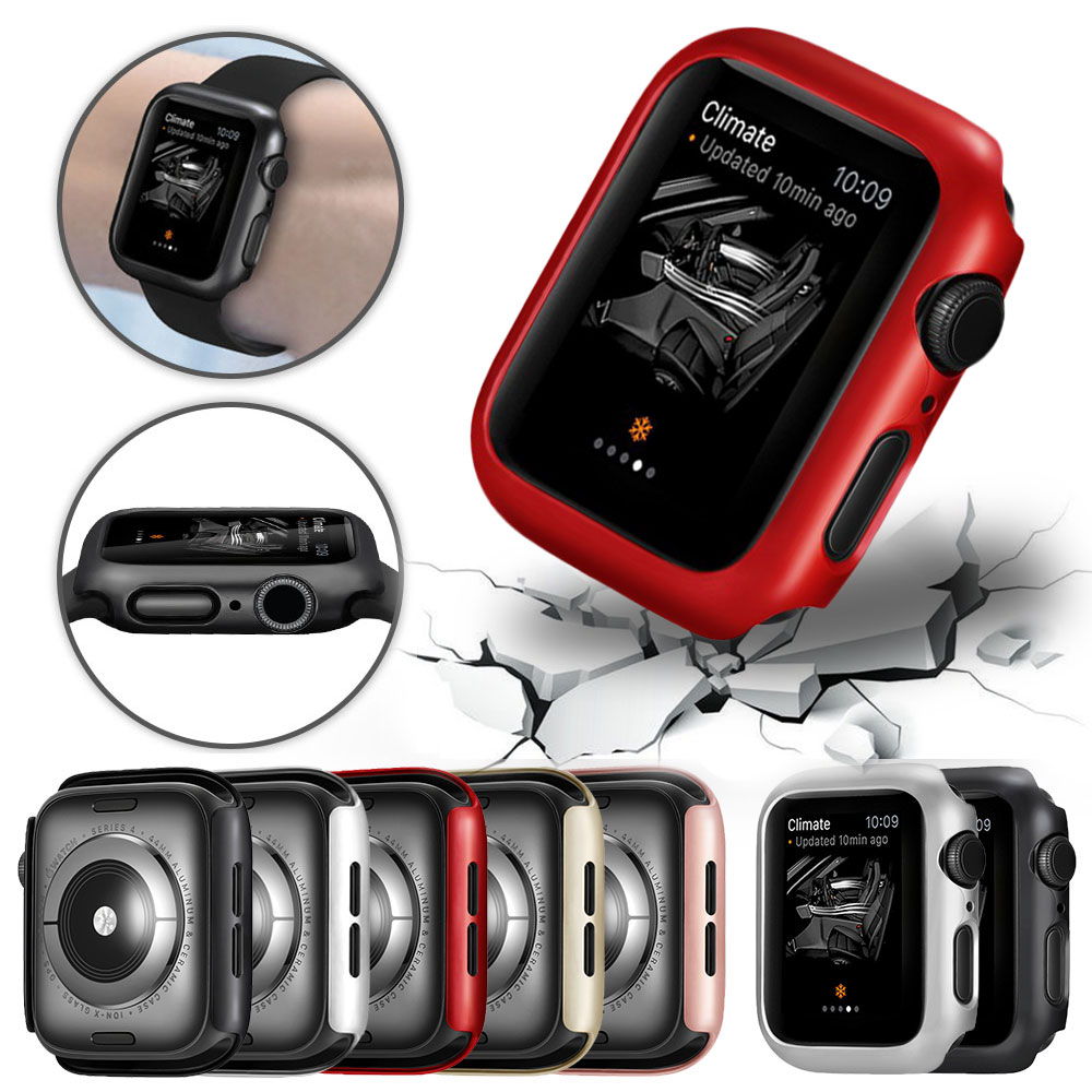 PC Protective <font><b>Apple</b></font> <font><b>Watch</b></font> Case for <font><b>Apple</b></font> <font><b>Watch</b></font> <font><b>Series</b></font> <font><b>5</b></font> 4 3 2 38mm 42mm 40mm <font><b>44mm</b></font> Bumper Protector for iWatch 4 3 Frame Cover image