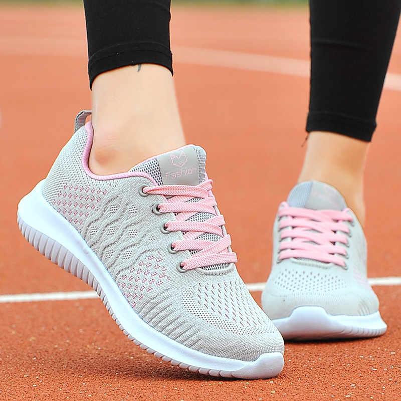 PINSEN 봄 여름 운동화 여성 통기성 메쉬 캐주얼 신발 여성 야외 바구니 여성 숙녀 신발 zapatillas mujer