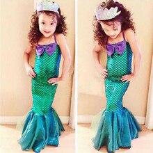 Girls Rapunzel Princess Dress Up Children Dresses Summer Mermaid dress evening Costume Party Kids Clothing