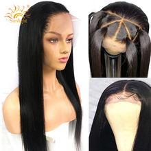 360 Lace Frontal Wig Peruvian Straight Hair Pre Plucked With Baby Hair Remy Lace Front Human Hair Wigs 150 Density Sunlight Hair