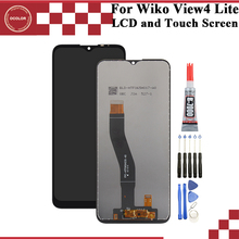"""Ocolor dla Wiko View 4 Lite wyświetlacz LCD i montaż digitizera ekranu dotykowego 6.52 """"dla Wiko View 4 Lite wymiana ekranu"""