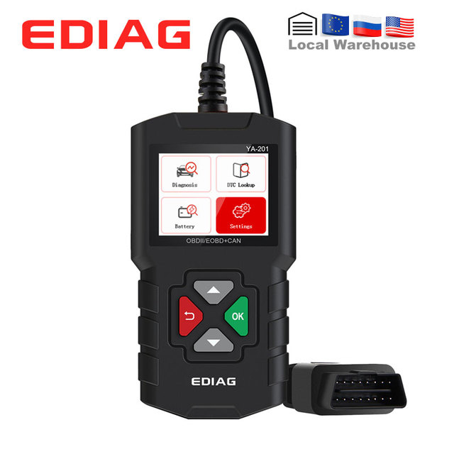 Ediag – lecteur de Code YA201 OBDII/EOBD, outil de Diagnostic automatique, flux de données, sauvegarde/lecture, Scanner OBD2, mise à jour gratuite, AL319, CR3001