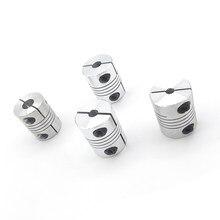 4 pces 5x8mm d25l30 alumínio 5mm a 8mm eixo z acoplamento flexível para acoplamentos do eixo do acoplador do motor deslizante peças da impressora 3d