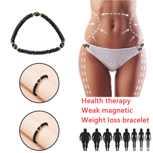Magnetic Therapy Anklet Beads Foot Chain Vintage Black Healthy Weight Loss Ankle Bracelet Bangle for Women Men Jewelry
