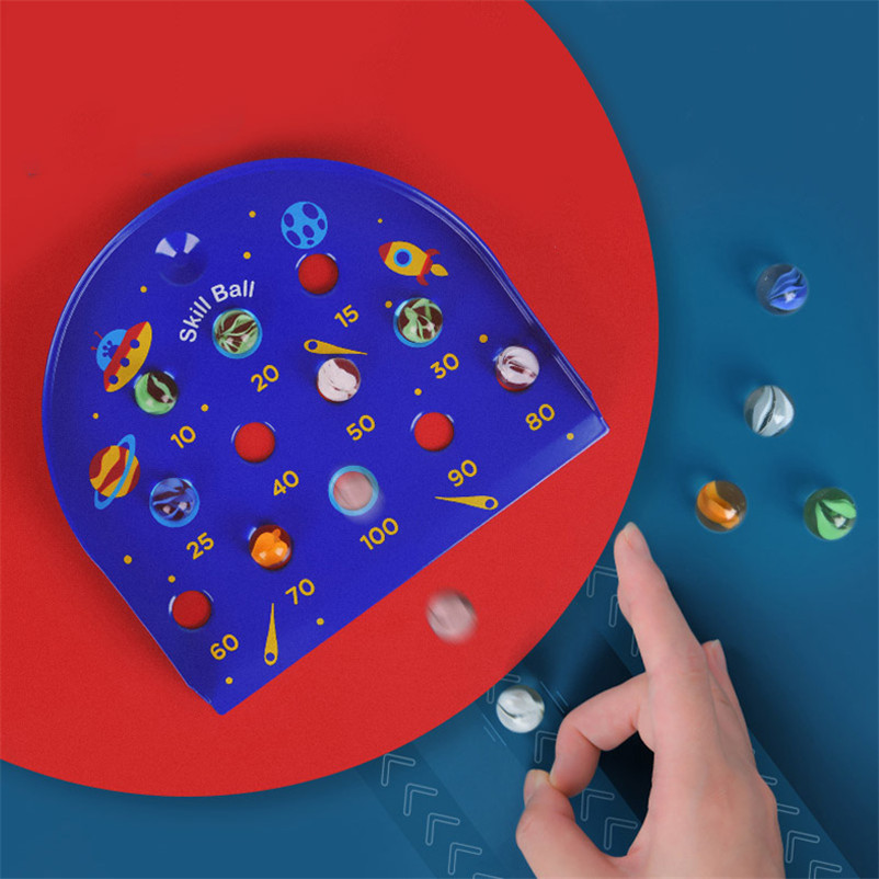 Espaço de vidro mármores brinquedos crianças desktop quebra-cabeça habilidade bola jogo conta crianças brinquedo para desenvolver inteligência 6 anos crianças gi