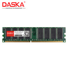 Daska 1Gb Ddr Pc 2700 3200 U Ddr 1 333Mhz 400 Mhz 333 400 Mhz Desktop Pc Memory memoria Module Computer Desktop DDR1 Gebruikt Ram