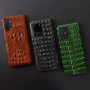 Image 5 - Skórzany futerał na telefon dla Samsung Galaxy S20 Ultra S7 S8 S9 S10 Lite S10e uwaga 8 9 10 20 Plus A20 A50 A70 A51 A71 A8 głowa krokodyla