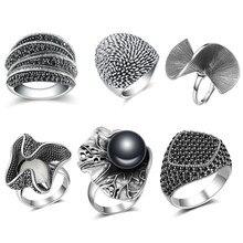 Mytys anéis antigos, coleção vintage, anéis para mulheres, óxido, prata, retrô, anéis de moda