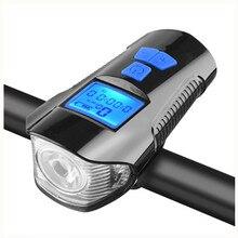 Light-Flashlight Bicycle-Light Bike Handlebar Front Waterproof Speed-Meter Lcd-Screen