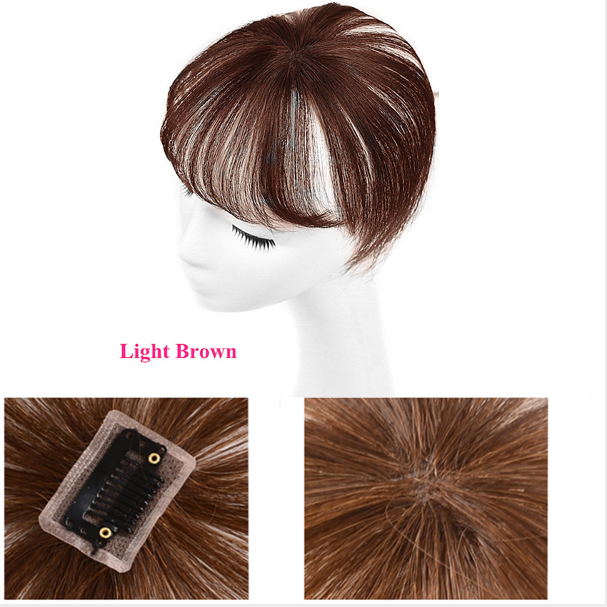 Halo Lady Beauty 360 Onzichtbare Human Pony Haar Naadloze Transparant Kant Pony Clip In Air Bang Fringe Haar Braziliaanse Non-Remy