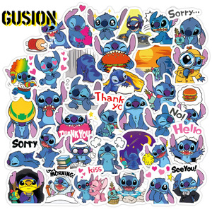 10/30/50pcs/Pack Cartoon Stitch Vsco Stickers Laptop Skateboard Luggage Guitar Waterproof Funny DIY Graffiti Sticker Kids Toys