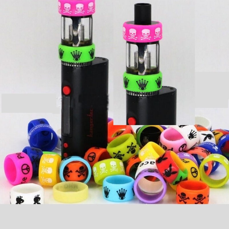 Newest Non-Skid MOD Silicone Ring Electronic Cigarette Silicon Vape Ring For Mechanical Mods E Cig Silicone Rings