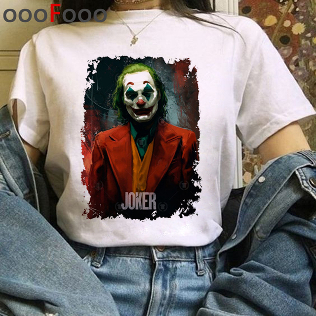 Joker Joaquin Phoenix T Shirt Women Horror T-shirt Are You Smell Right Now Funny Cartoon Tshirt Fanshion Top Tee Female