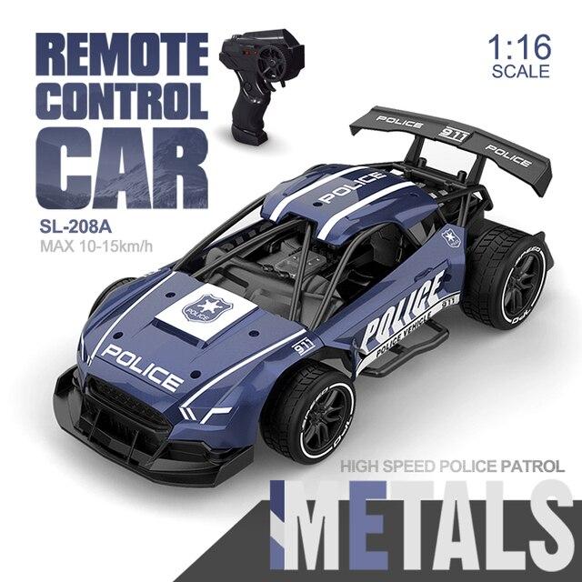 מכונית מירוץ על שלט ממתכת 2.4G 4CH 1:24 -  דגם משטרה | מגיע בגדלים 1:14/1:16/1:24 2