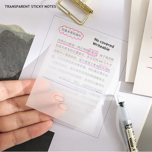 MINKYS Waterproof PET Transparent 50 Sheets Memo Sticky Note Paper Daily To Do It Check List Paperlaria School Stationery