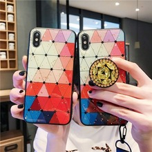 Luxury Glitter Phone Case for Redmi Note 7 Fashion Marble Holder Cover 6A 6Pro GO 6 7Pro Coque