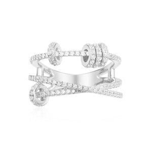 Image 3 - KAKANY הזוהר מסוגנן העתק של גבוהה איכות מקורי קסמי, לשלושה גבוהה סוף טבעת עם טבעת להחליק, עבור נשים של מונקו תכשיטים