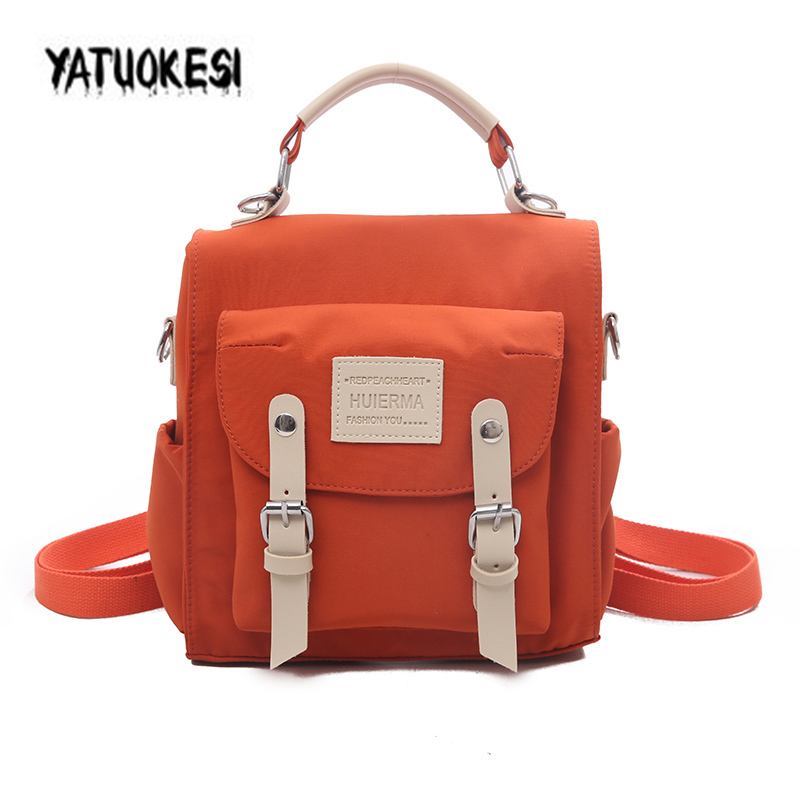Fashion Letter Print Backpack For Women Waterproof Backpack Harajuku Style Nylon Schoolbag Laptop Travel Bag Mochilas Mujer 2020