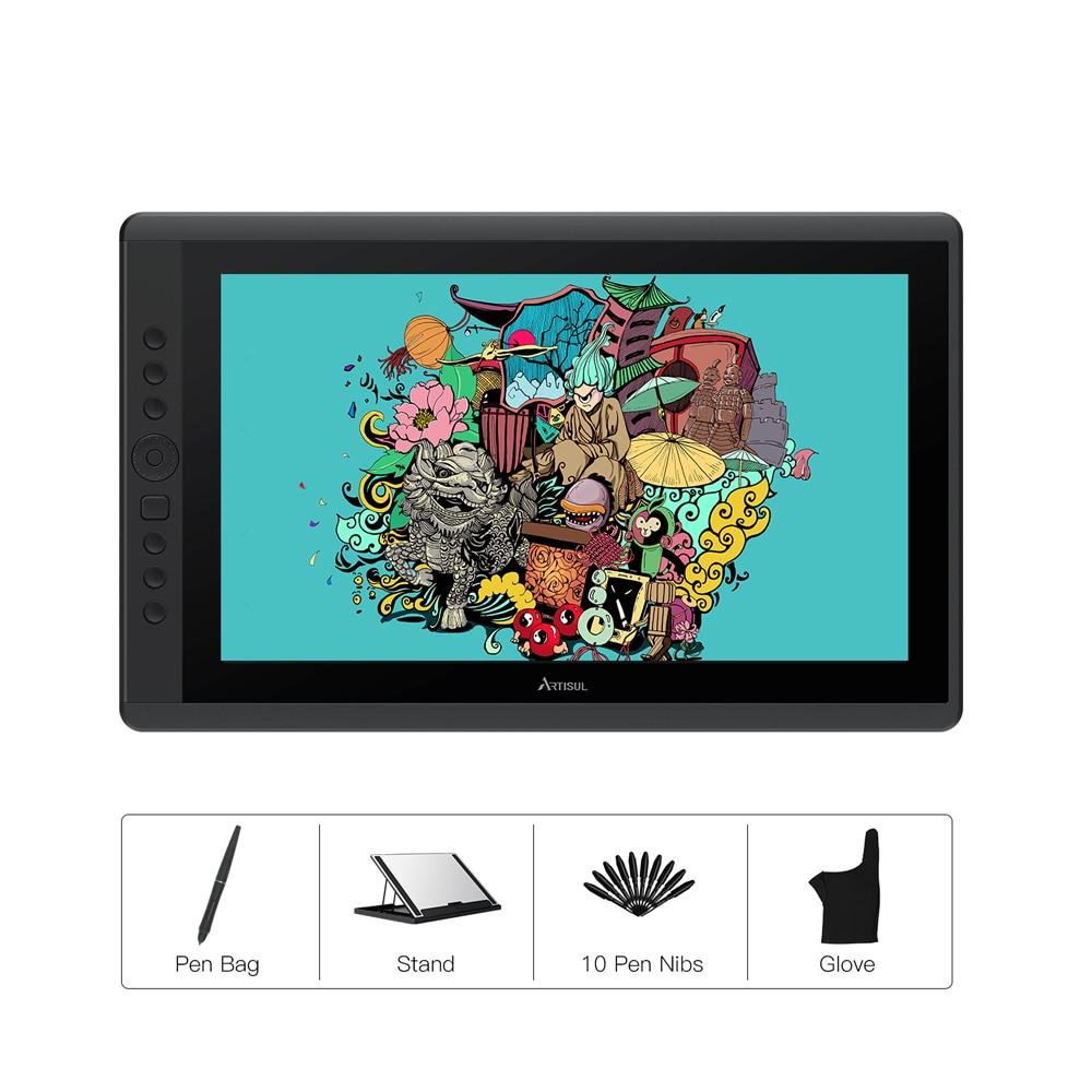 Artisul D16 Battery-Free Gráficos Tablet IPS Caneta Monitor de 15.6 polegada 8192 Níveis