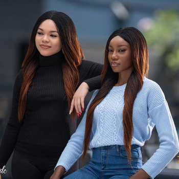 Ombre Brown 1B/30 Color Lace Front Wigs Human Hair Pre Plucked With Baby Hair Straight Brazilian Remy Hair For Women 150%Density human hair full lace wigs baby hairs brazilian wavy remy hair for women ombre brown blonde pre plucked 150