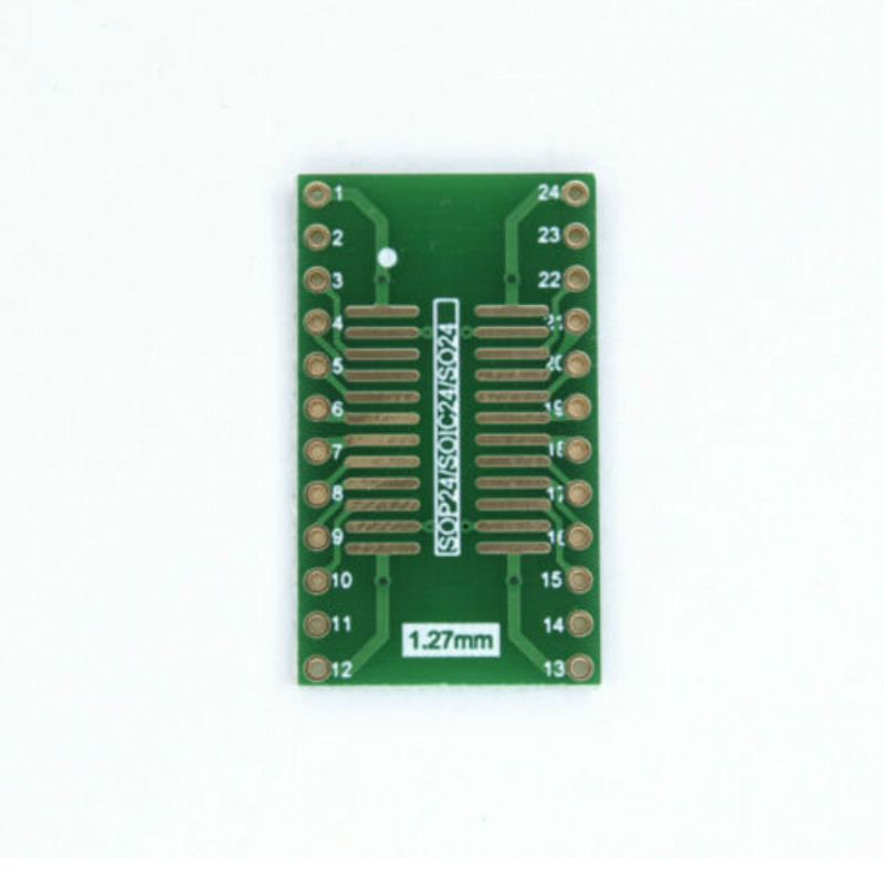 to DIP24 industrial quality! 1,27mm 1x SMD Adapter Board SO24 //SOP24 0,65mm