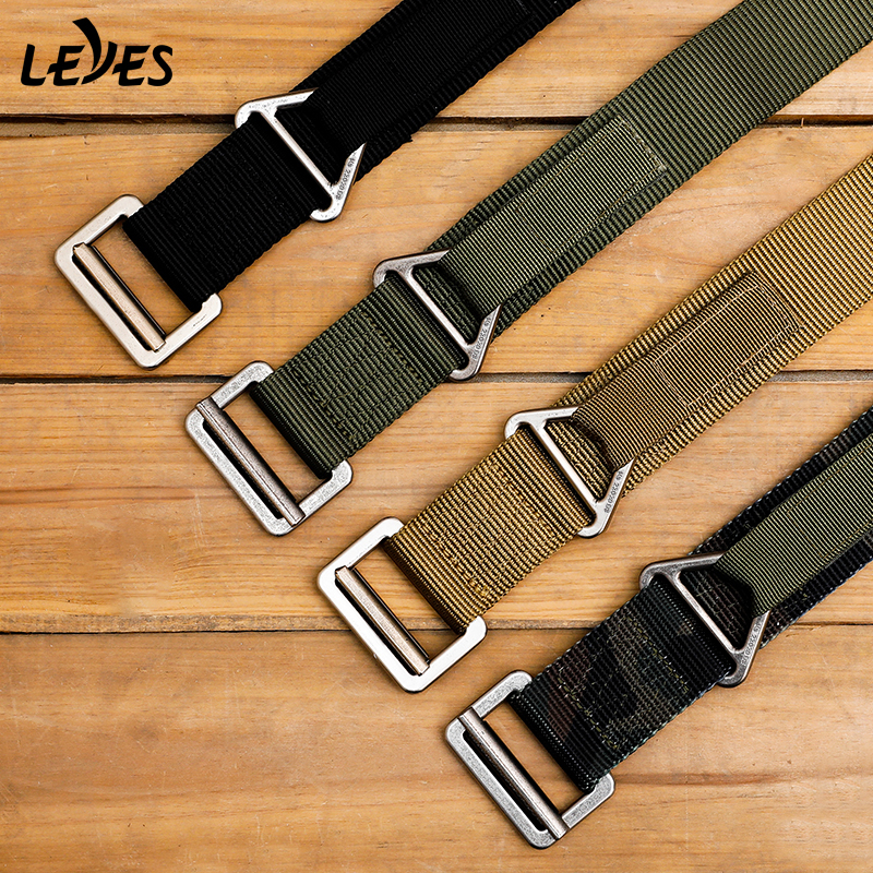 Outdoor Tactical Belt For Men Military Training Combat Rescue Rigger Duty Alloy Buckles Belts Nylon Battle High Quality Canvas