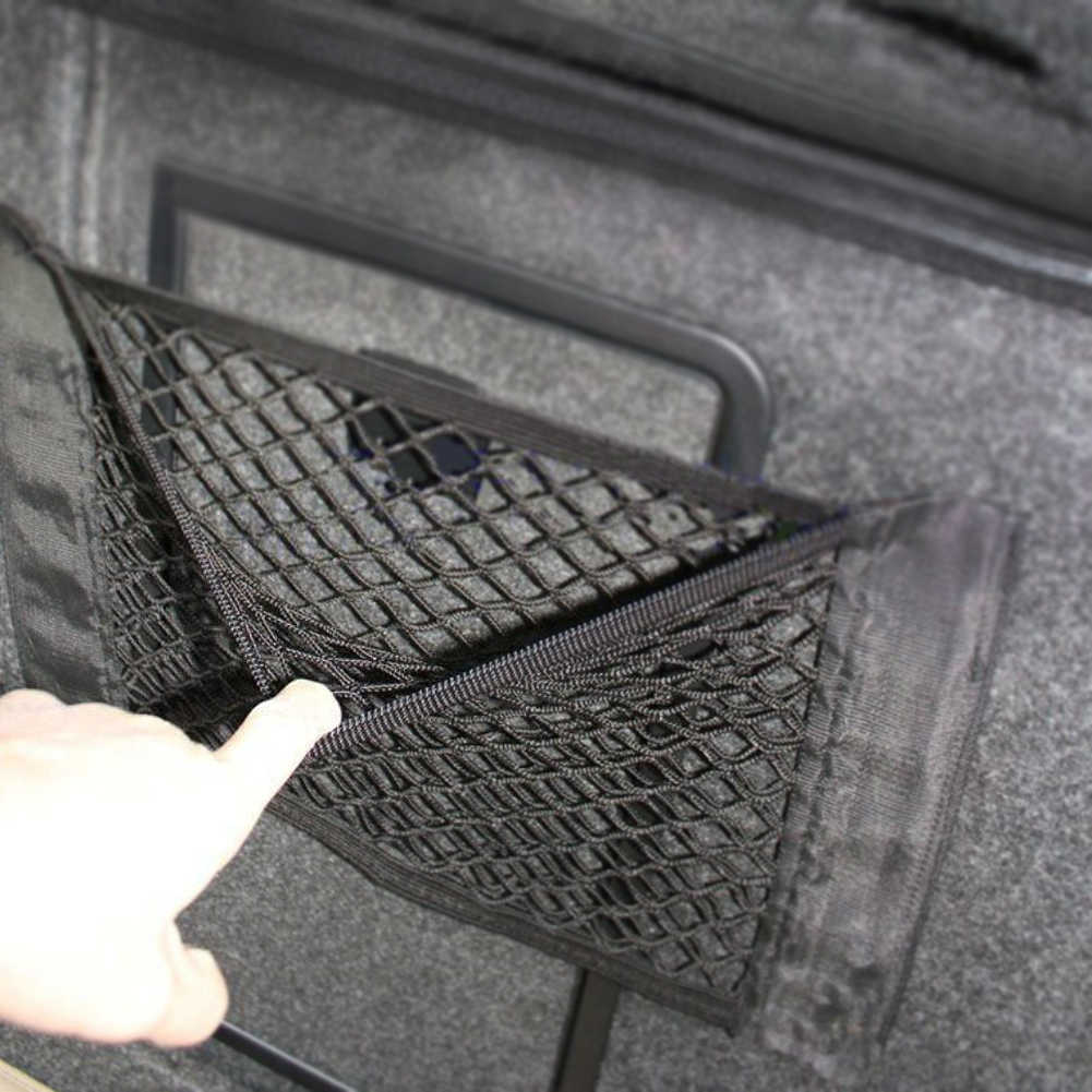 Grid Pocket Holder Car Accessories Trunk Storage Bag Mesh Net Auto Styling Luggage Sticker Interior Organizer Stuff  Netting