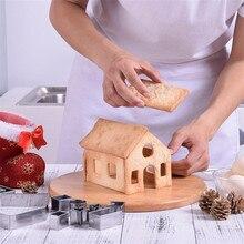 18 шт./компл. 3d рождественского печенья ножи, выпечка формы Нержавеющая сталь пряничный домик вечерние форма для выпечки