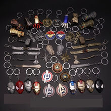 Disney marvel avengers 4 ironman thor figura chaveiro brinquedos vingadores espada stormbreaker chaveiro thanos spiderman chaveiro brinquedos