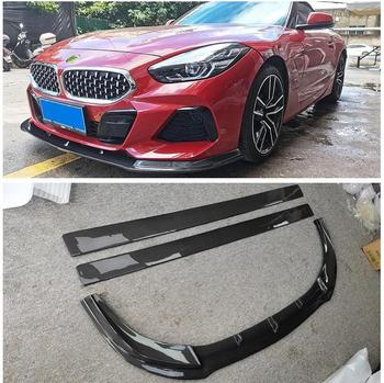 REAL Carbon Fiber Front Bumper Diffuser Lip Spoiler Side Body Skirt For BMW Z4 G29 2019 2020 2021 High Quality Car Accessories image