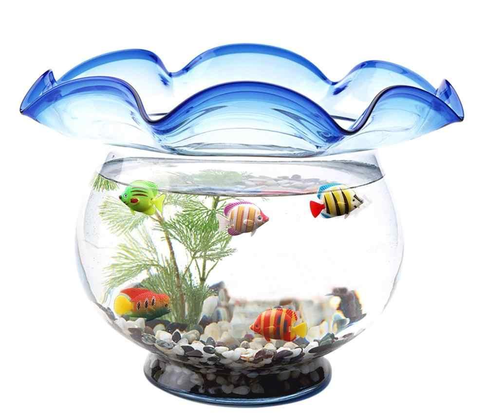 7pc Pagliaccio Acquario di Plastica di Nuoto Faux Falso Oro Pesci da Acquario Artificiale Aquarium Fish Tank Decor Orname Regalo Accessori