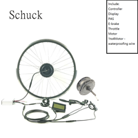 SCHUCK Electric Bike Conversion Kit REAR ROTATE Wheel Motor 500W E Bike Kit 48V Hub Motor Bicycle Controller with LCD3 DISPLAY|Conversion Kit| |  -