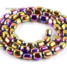 Natural Irregular Multicolor Hematite Stone Round Loose Beads For Jewelry Making 5-8mm Spacer Fit Diy Bracelets Accessory