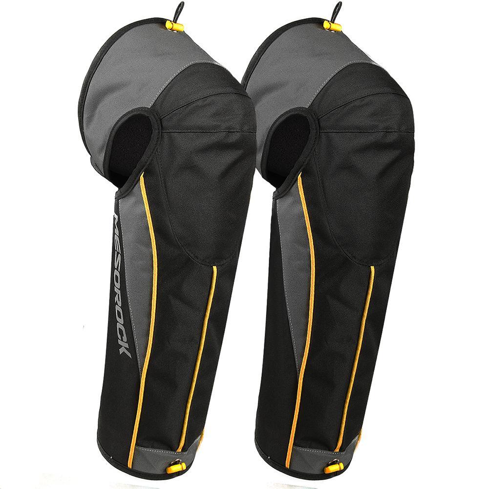 Warm Knee Pad Unisex Black Leather Leg Warmer Protector Motorcycle kneepad Half Chaps Leggings Covers Adjustable Strap Windproof|Motorcycle Protective Kneepad| |  - title=