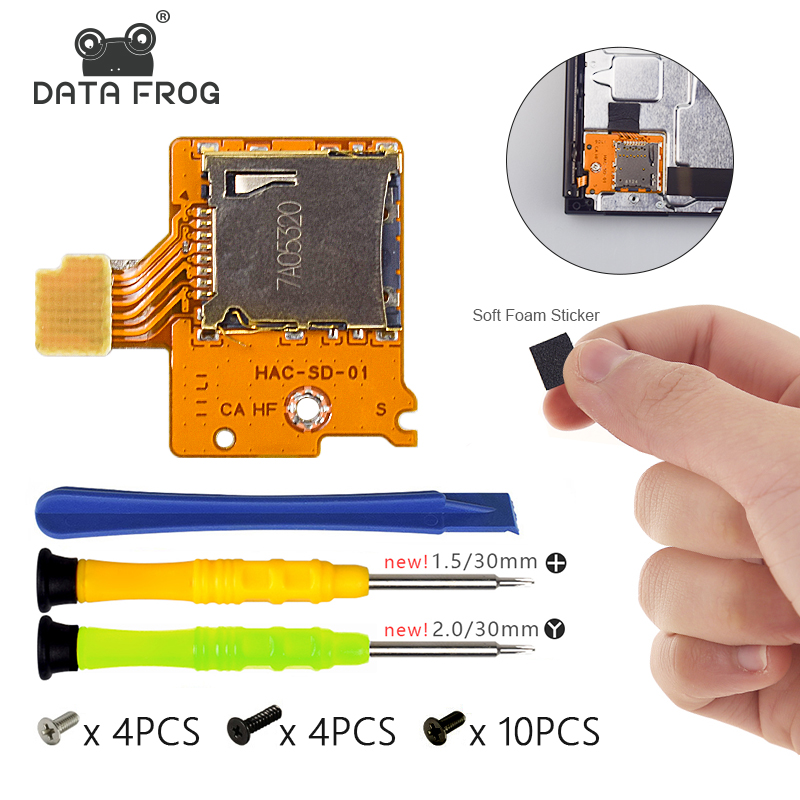 Data Frog Micro SD Card Slot Socket Board Replacement For Nintend Switch Game Console TF Card Board Repair For Nintend Switch