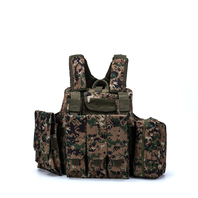 Airsoft Military  CIRAS Tactical Vest Molle Combat Assault Armor Plate Carrier Tactical Vest Kryptek Black Outdoor Hunting Vest 6