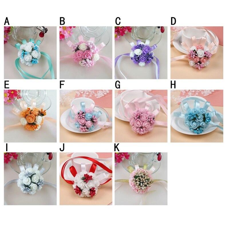Цветение богатое букеты искусственной гортензии искусственные цветы, шелковые цветы розы декоративный цветок свадебные аксессуары - 6