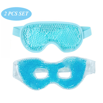 2 PCS IN Set Cooling Gel Eye Mask Hot Cold Therapy Face Health Care Beauty Sleeping Eye Mask for Puffy Dry Eyes Ergo Gel Bead