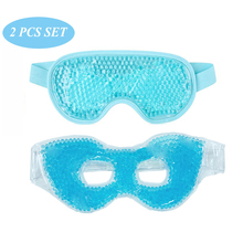 2 PCS IN Set Cooling Gel Eye Mask Hot Cold Therapy Face Health Care Bea