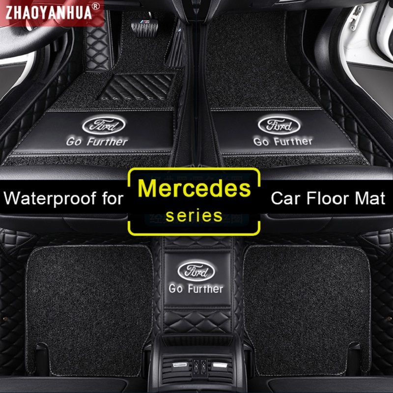 3D Waterproof Car Mats for <font><b>Mercedes</b></font> Benz CLK <font><b>W208</b></font> W209 c209 <font><b>Accessories</b></font> Leather floor mats Carpet image
