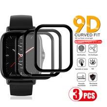 3Pcs 9d curved protective fiberglass for huami amazfit gts2 gts2e gts 2 2e soft pet screen protector film smartwatch accessories