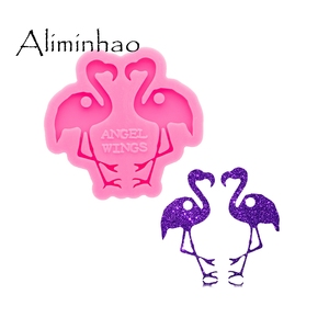 Flamingo DY0629 Super Brilhante Brincos Forma de Molde de Silicone Molde de Epóxi Resina Artesanato Moldes DIY Jóias Artesanais