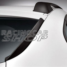UNPAINTED PERFORMANCE STYLE REAR FINS MATTE BLACK FINISH FOR BMW X6 E71 2008-2014 B229F