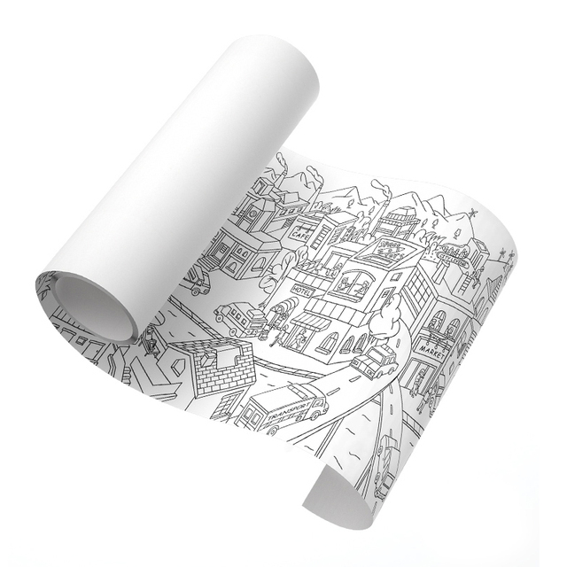 MiDeer Drawing Toys Baby Painting Scroll 10m Giant Theme Scenes Element Of Life 3Y Imagination Graffiti