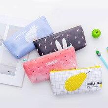 Pencil bag Korean version creative inverted trapezoidal stationery box PU waterproof stationery box pencil bag