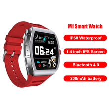 M1 Smart Watch Men Heart Rate Monitor Blood Pressure Smartwatch IP68 Waterproof 1.4inch Square Smart Watch for IOS Android smartwatch 202 1 9 inch 170x320 screen lemfo dm12 smart watch men ip68 waterproof sport heart rate blood pressure android ios